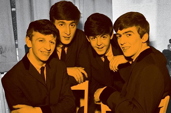 Ringo Starr, John Lennon, Paul McCartney, George Harrison of The Beatles in 1962.