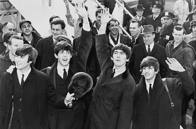 The Beatles arrive in America on February 7, 1964