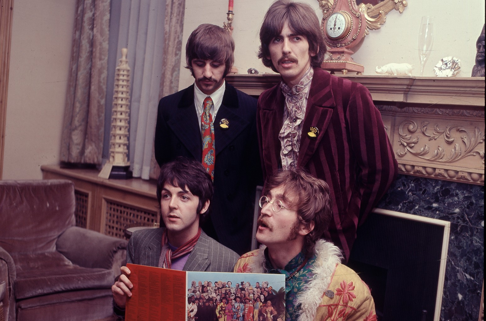 The Beatles during a photocall for 'Sergeant Pepper's Lonely Hearts Club Band.'