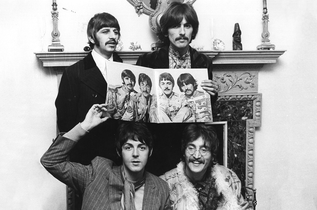 The Beatles during a photocall to promote their 'Sergeant Pepper's Lonely Hearts Club Band'.