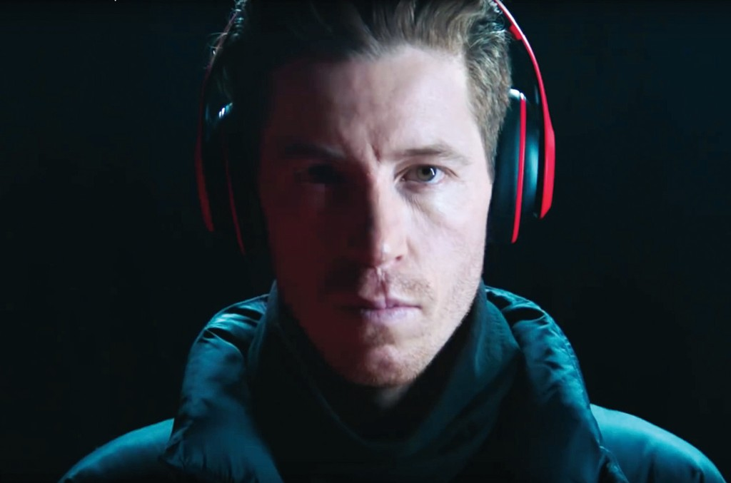 """Olympic snowboarder White in Beats' latest """"Above the Noise"""" campaign."""