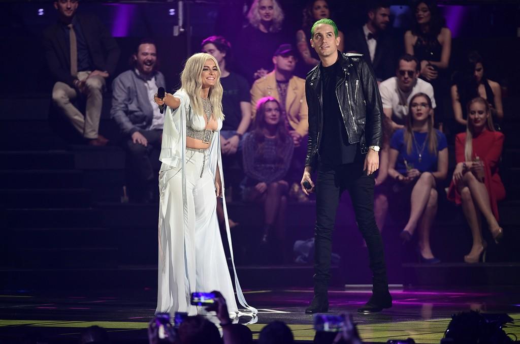 Bebe Rexha and G-Eazy at the MTV Europe Music Awards 2016