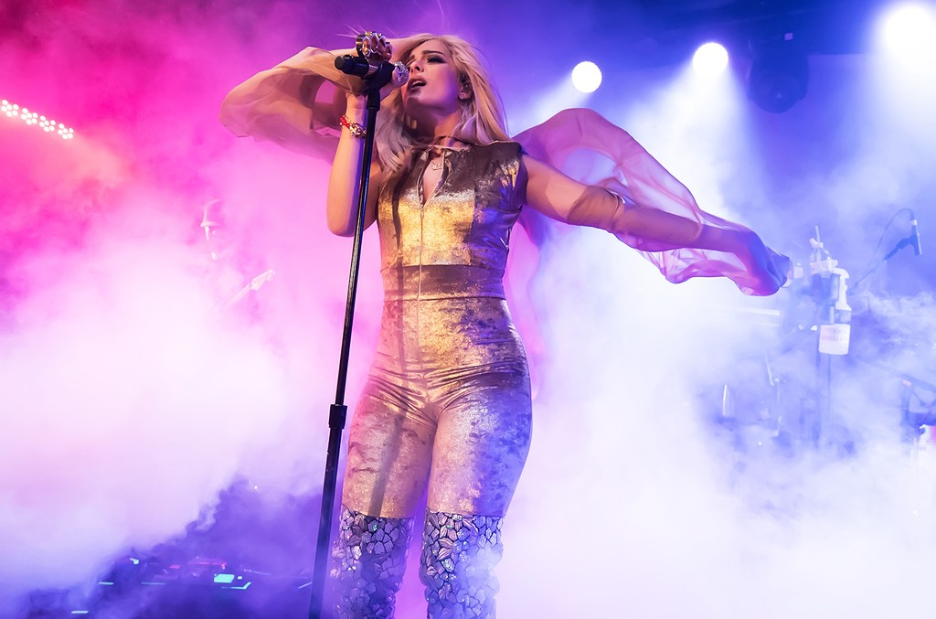Bebe Rexha performs during  the All Your Fault Tour at Underground Arts on March 26, 2017 in Philadelphia.