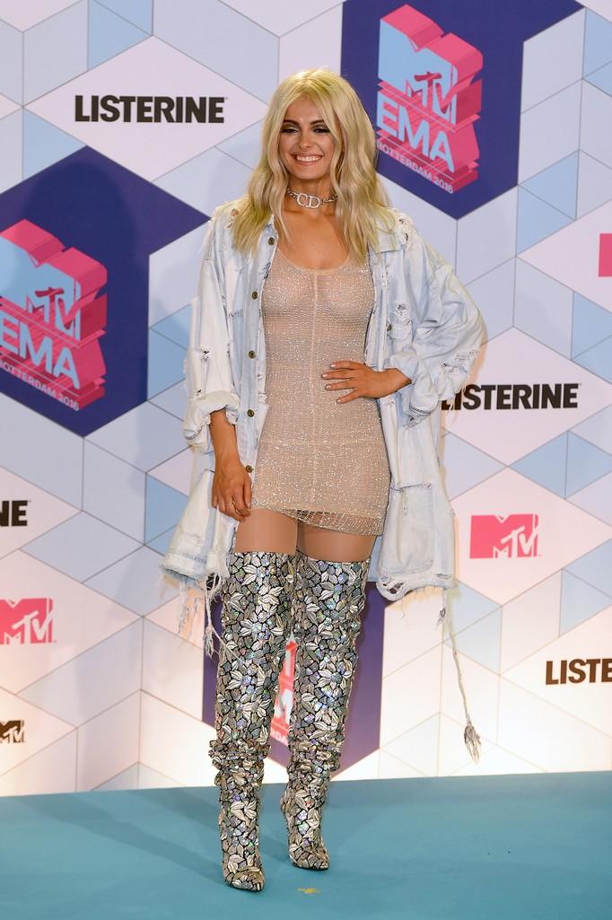 Bebe Rexha at the MTV Europe Music Awards