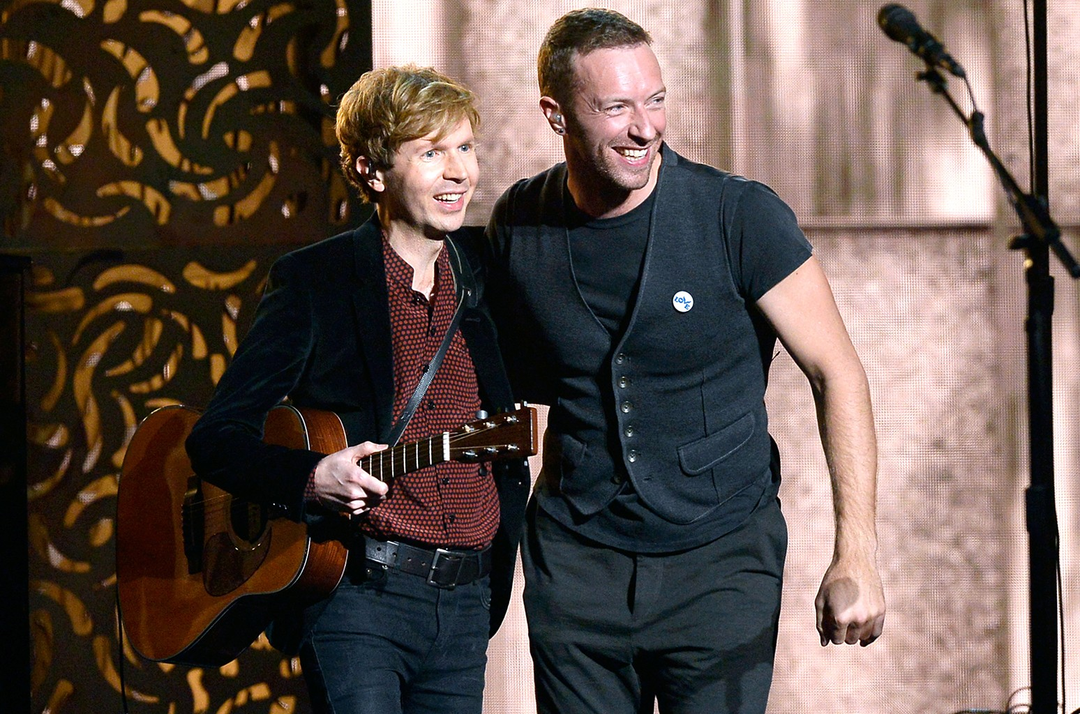 Beck and Chris Martin
