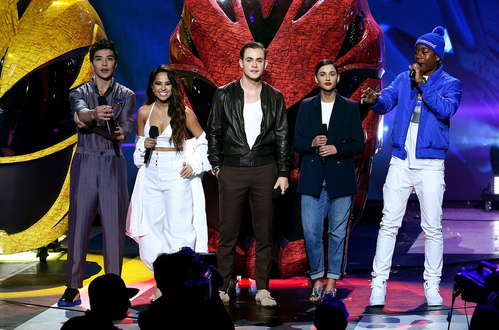 The cast of Power Rangers speak onstage at Nickelodeon's 2017 Kids' Choice Awards at USC Galen Center on March 11, 2017 in Los Angeles.
