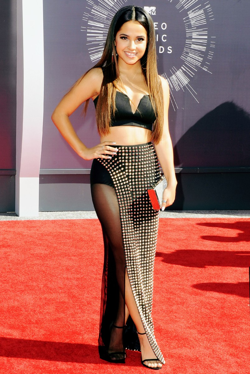 Becky G arrives at the 2014 MTV Video Music Awards at The Forum on Aug. 24, 2014 in Inglewood, Calif.