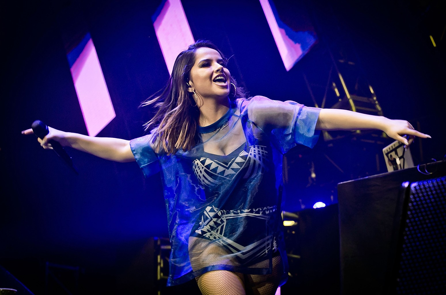 Becky G performs in Los Angeles