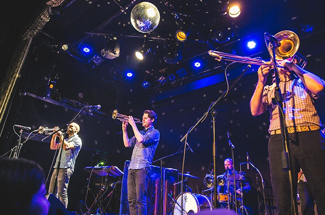 Beirut performs at Bowery Ballroom in New York City on June, 21, 2015.