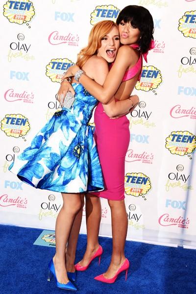 Bella Thorne and Zendaya attend FOX's 2014 Teen Choice Awards