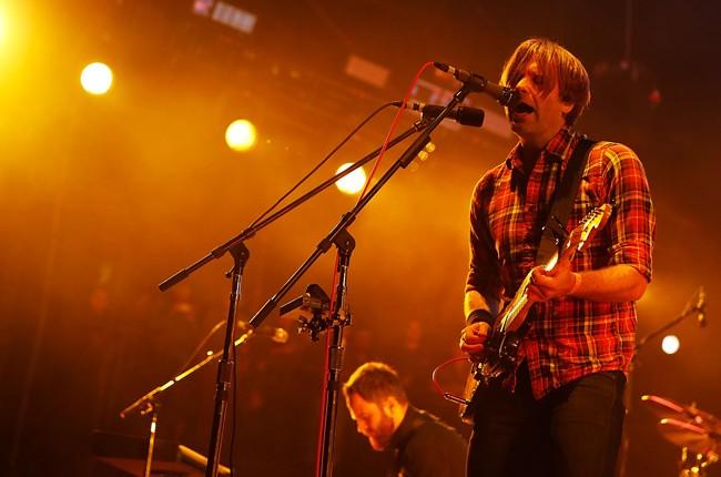 Ben Gibbard of Death Cab for Cutie performs onstage at the KROQ Weenie Roast Y Fiesta 2015