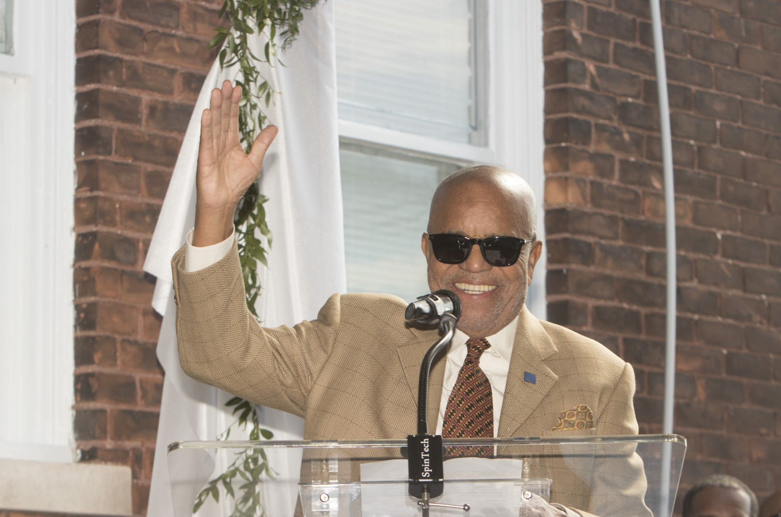 Berry Gordy, founder of Motown Records, speaks during the groundbreaking of phase one of the Motown Museum's highly anticipated expansion.