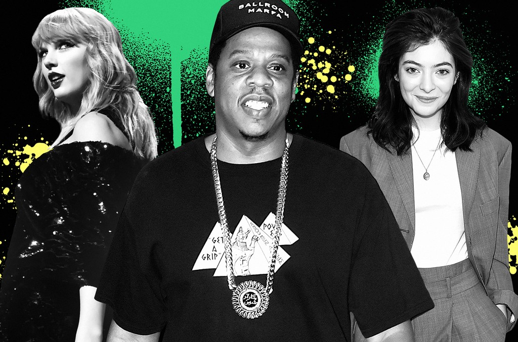 From left: Taylor Swift, Jay-Z & Lorde