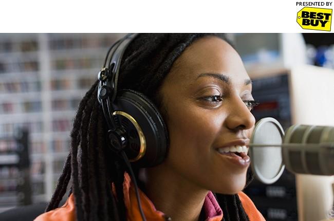 College radio DJ.