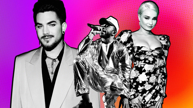 Adam Lambert, Kevin Abstract and Kim Petras