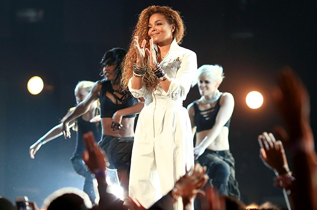 Janet Jackson performs onstage during the 2015 BET Awards