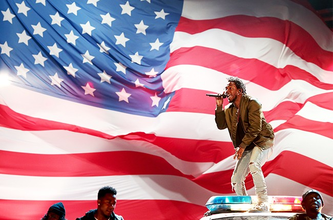 Kendrick Lamar performs onstage during the 2015 BET Awards