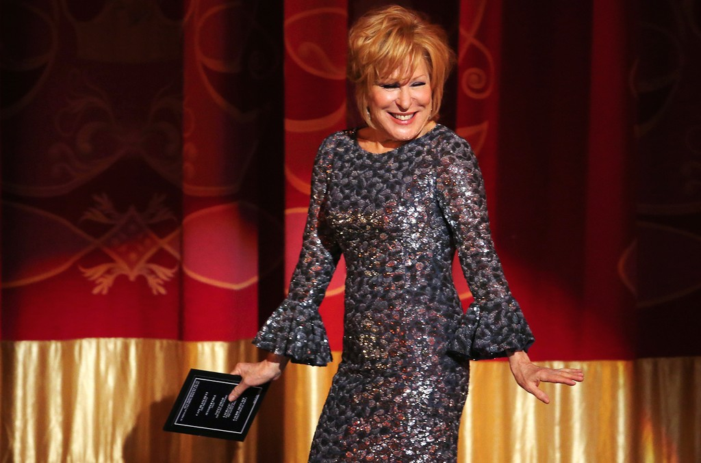 Bette Midler presents the award for best performance by an actress in a leading role in a play at the 71st annual Tony Awards on June 11, 2017 in New York City.