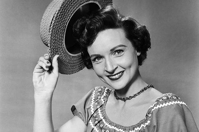 Actress Betty White in 1954.