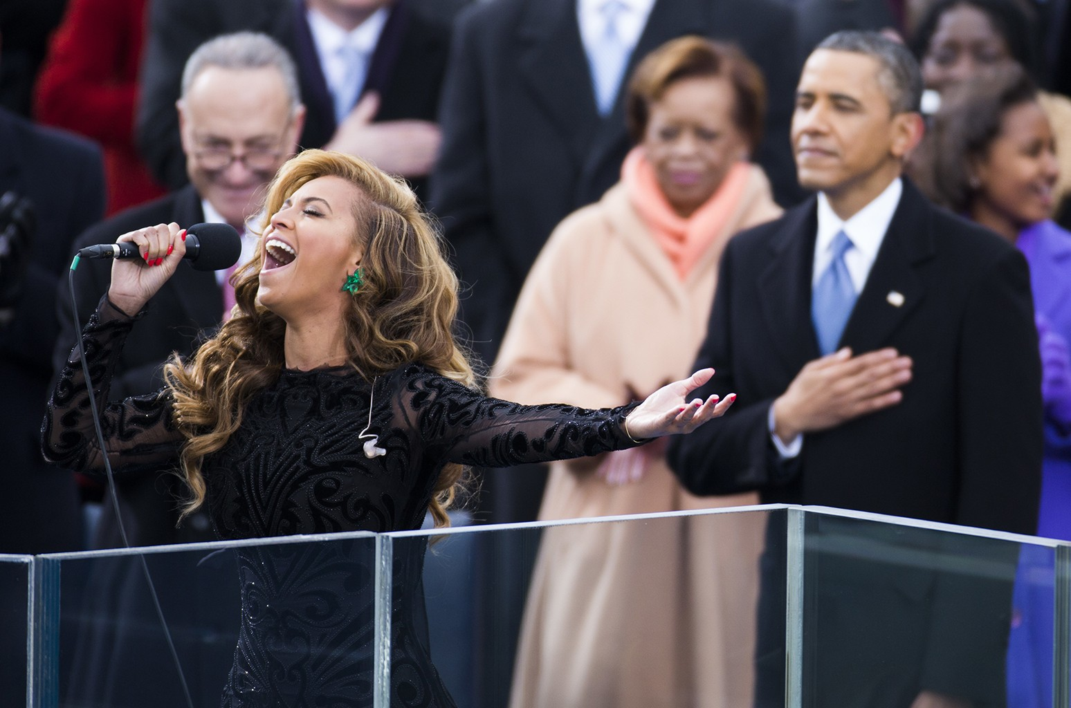 Beyonce during the Inauguration