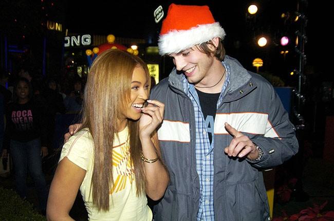 Beyonce and Ashton Kutcher