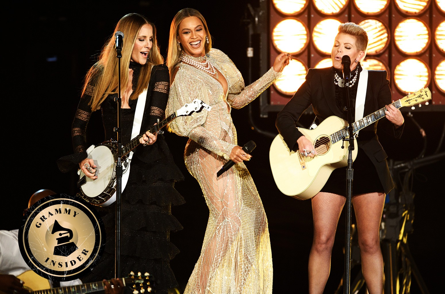 Beyoncé and The Dixie Chicks perform onstage at the 50th annual Country Music Awards on Nov. 2, 2016 in Nashville, Tenn.