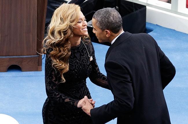 Beyonce and Barack Obama