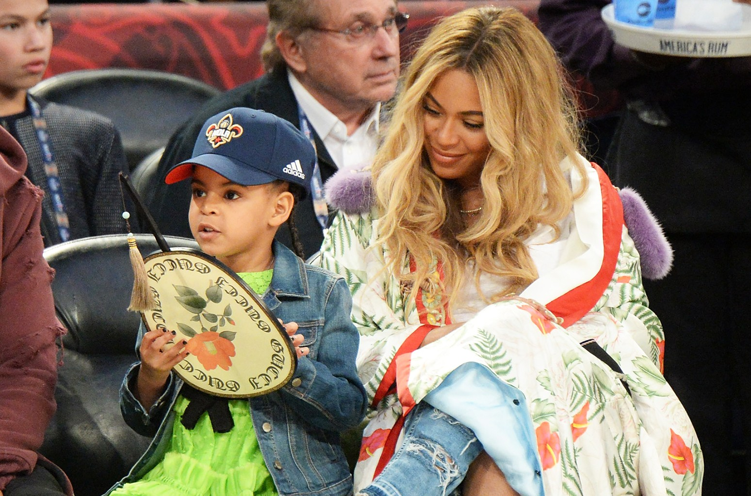 Blue Ivy Carter and Beyoncé Knowles