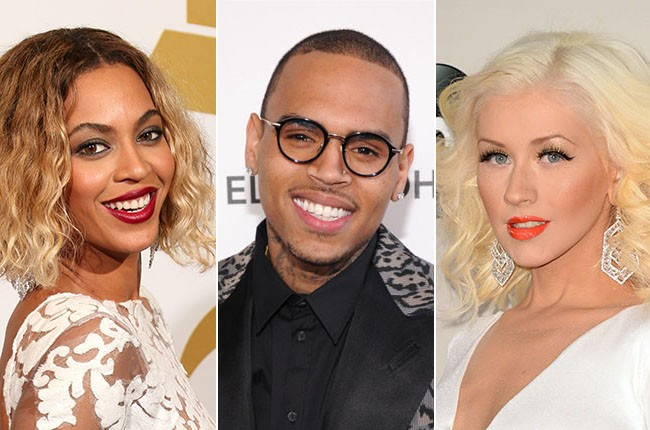 Beyonce, Chris Brown, Christina Aguilera