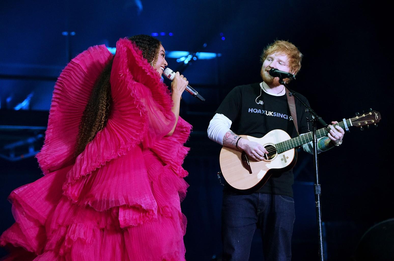 Beyonce and Ed Sheeran