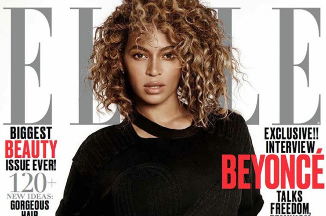 Beyonce on the May 2016 cover of Elle Magazine.