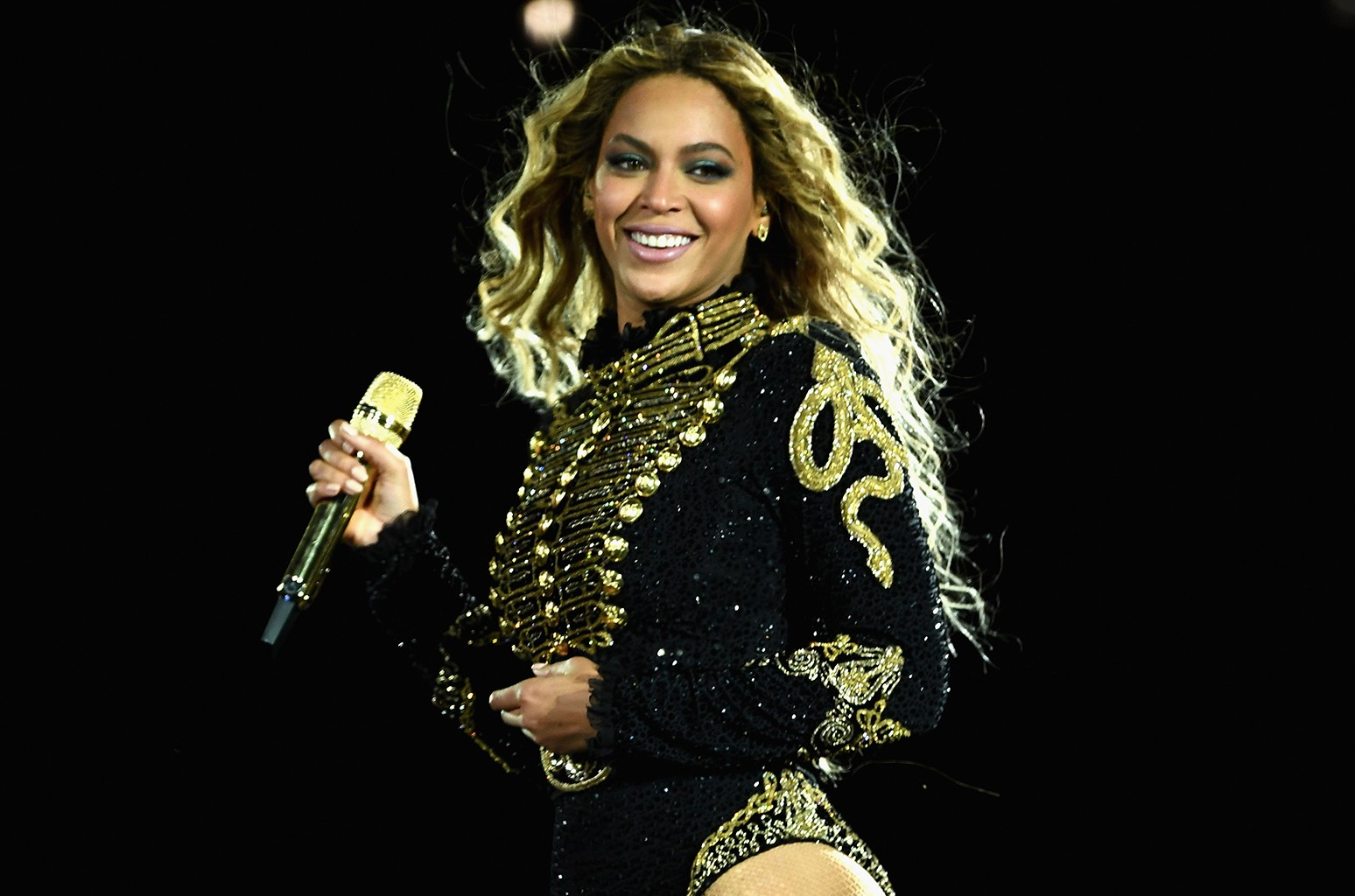 "Beyonce performs during ""The Formation World Tour"""