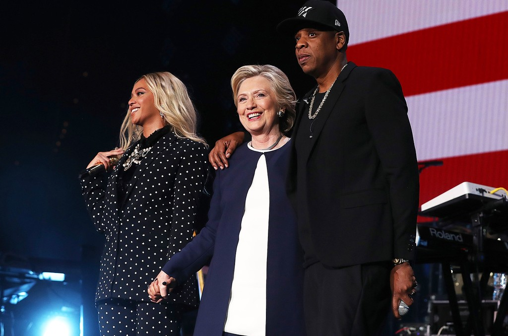 Beyonce, Hillary Clinton and Jay Z