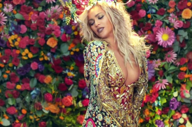 "Beyonce in Coldplay's ""Hymn"" music video in 2016."