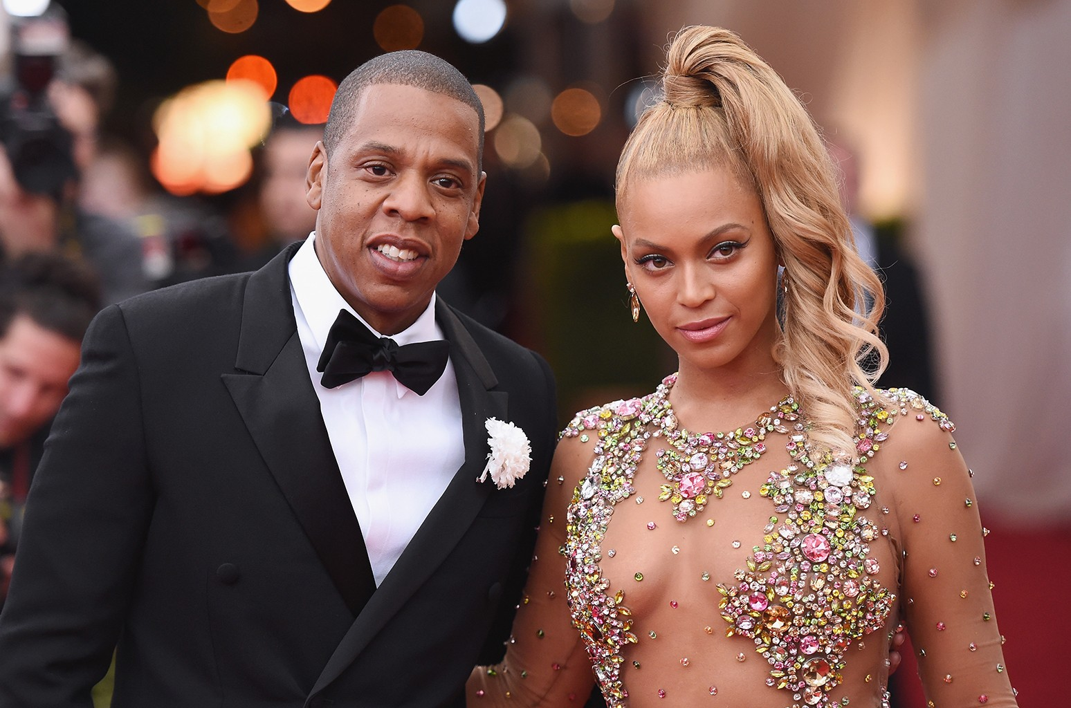 Jay Z and Beyonce attend the China: Through The Looking Glass Costume Institute Benefit Gala at the Metropolitan Museum of Art on May 4, 2015 in New York City.
