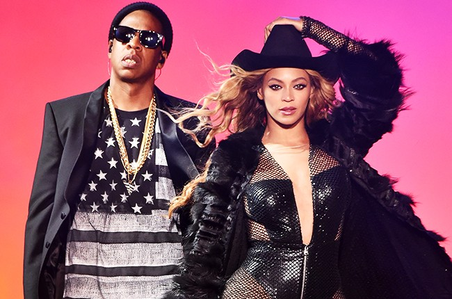 "Beyonce and Jay-Z perform during the ""On The Run Tour"""
