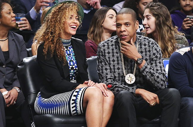 Beyonce and Jay Z attend Brooklyn Nets game