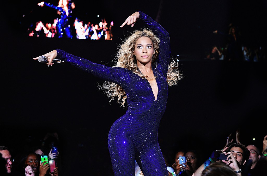 "Beyonce performs on stage during ""The Mrs. Carter Show World Tour"" at the American Airlines Arena on July 10, 2013 in Miami."