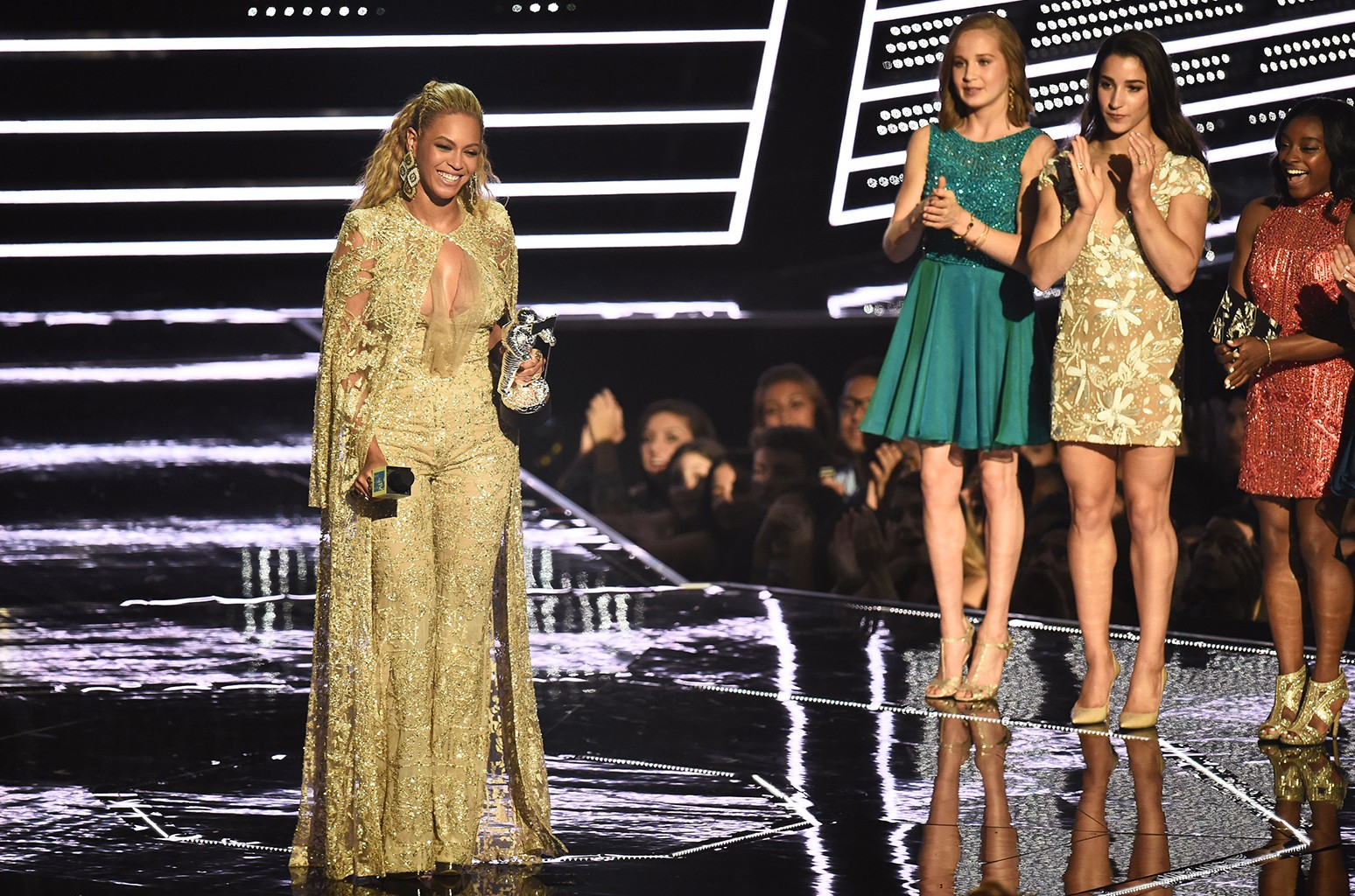 Beyonce accepts the Best Female Video award