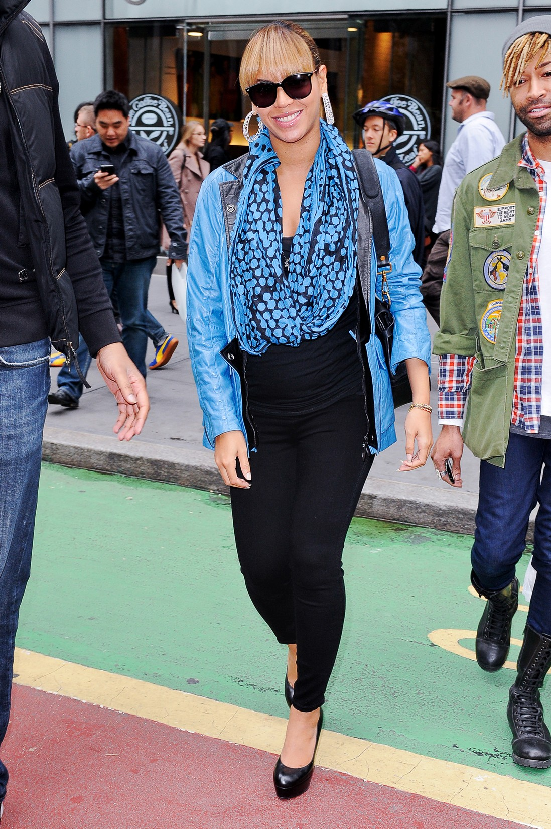 Beyoncé leaves a Midtown Manhattan office building on Oct. 24, 2011 in New York City.