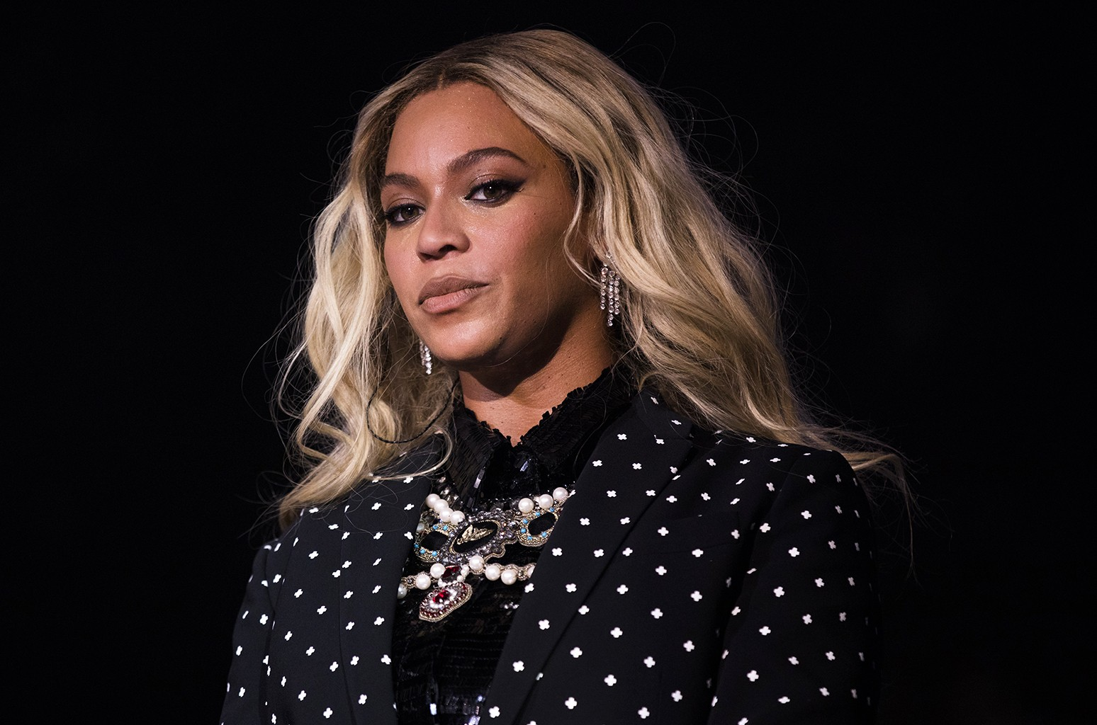 Beyonce performs on Nov. 4, 2016 in Cleveland.