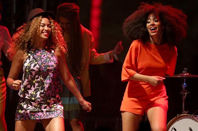 Beyonce, Solange at Coachella 2014