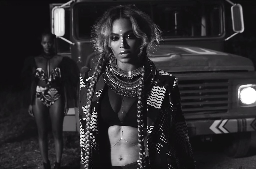 "Beyonce in the video for ""Sorry."""