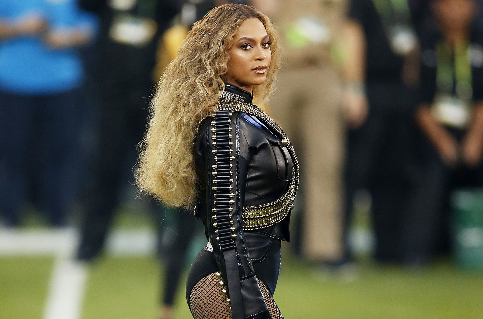 Beyonce performs during the Super Bowl Halftime Show