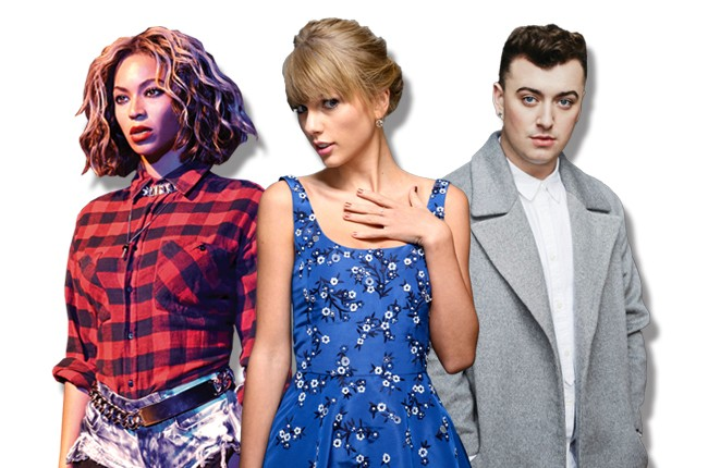 Beyonce, Taylor Swift, Sam Smith