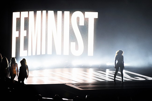 Beyonce performs onstage during the 2014 MTV Video Music Awards