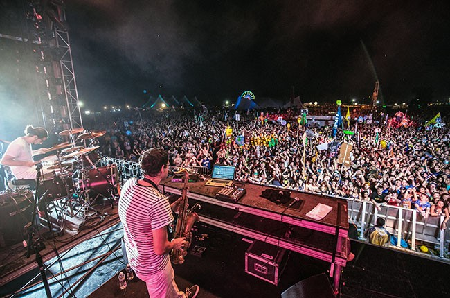 Big Gigantic performs a?t the 2014 Hudson Music Project Festival