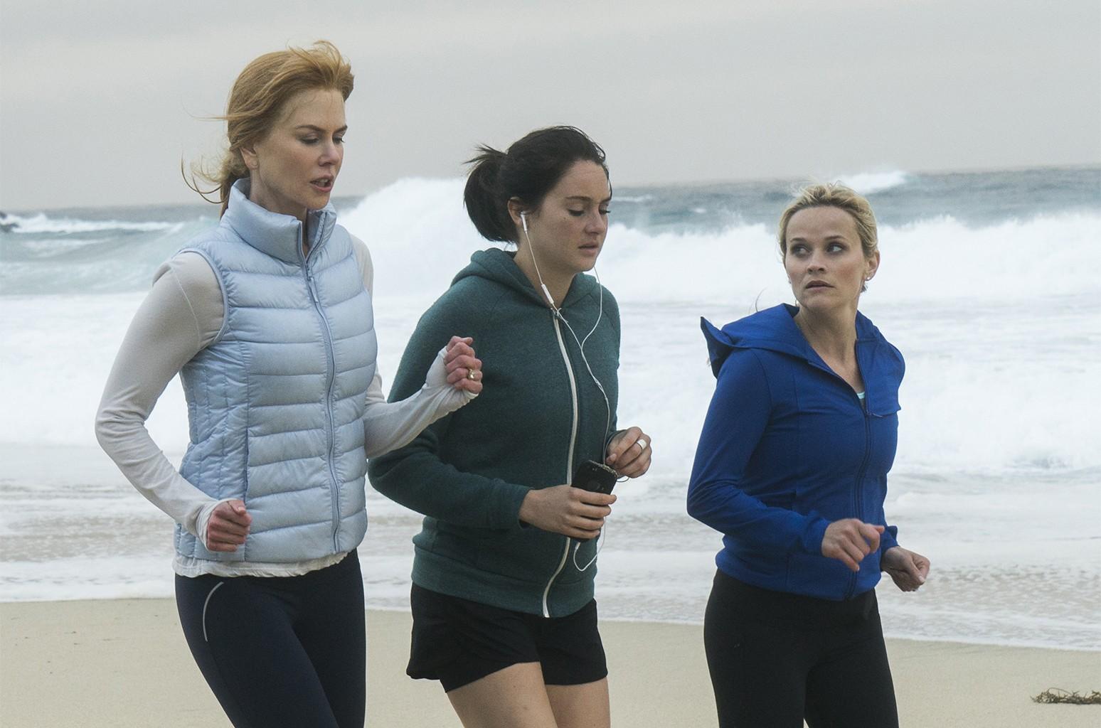 Nicole Kidman, Shailene Woodley, Reese Witherspoon in Big Little Lies.