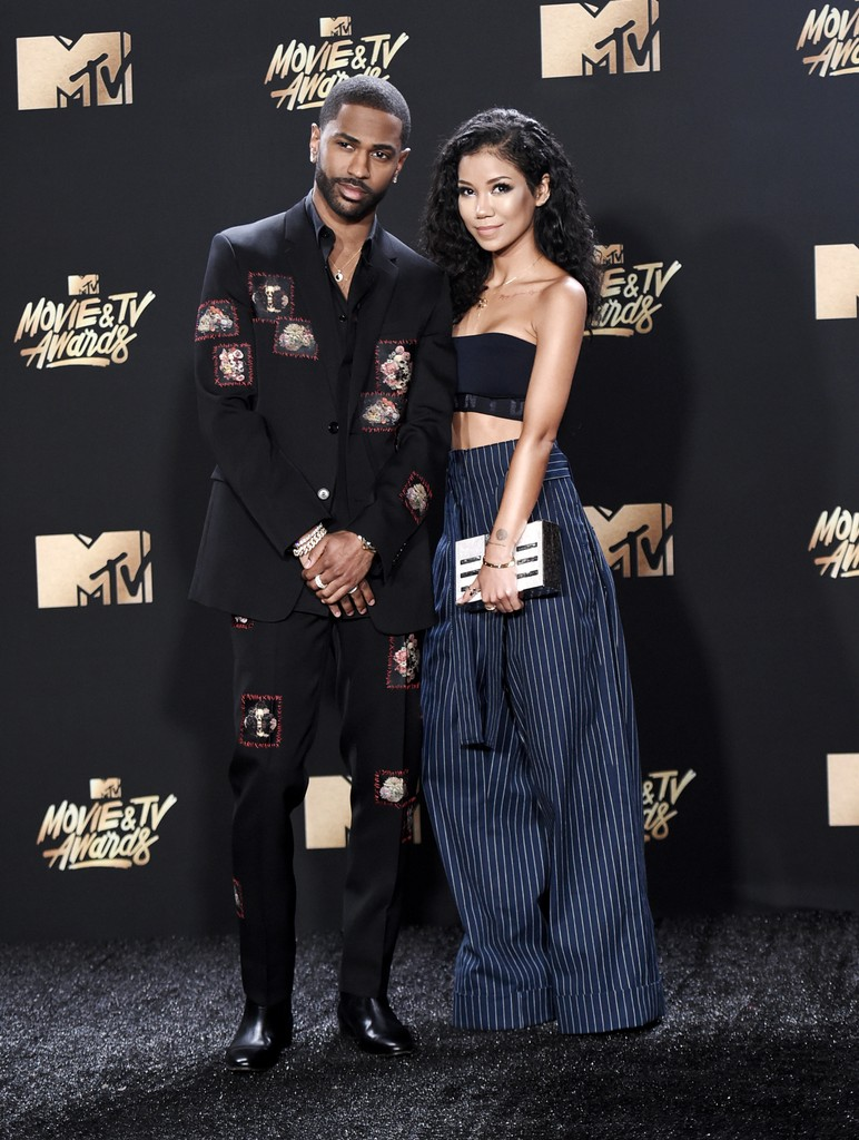 Big Sean and Jhene Aiko arrive at the MTV Movie and TV Awards at the Shrine Auditorium on May 7, 2017 in Los Angeles.