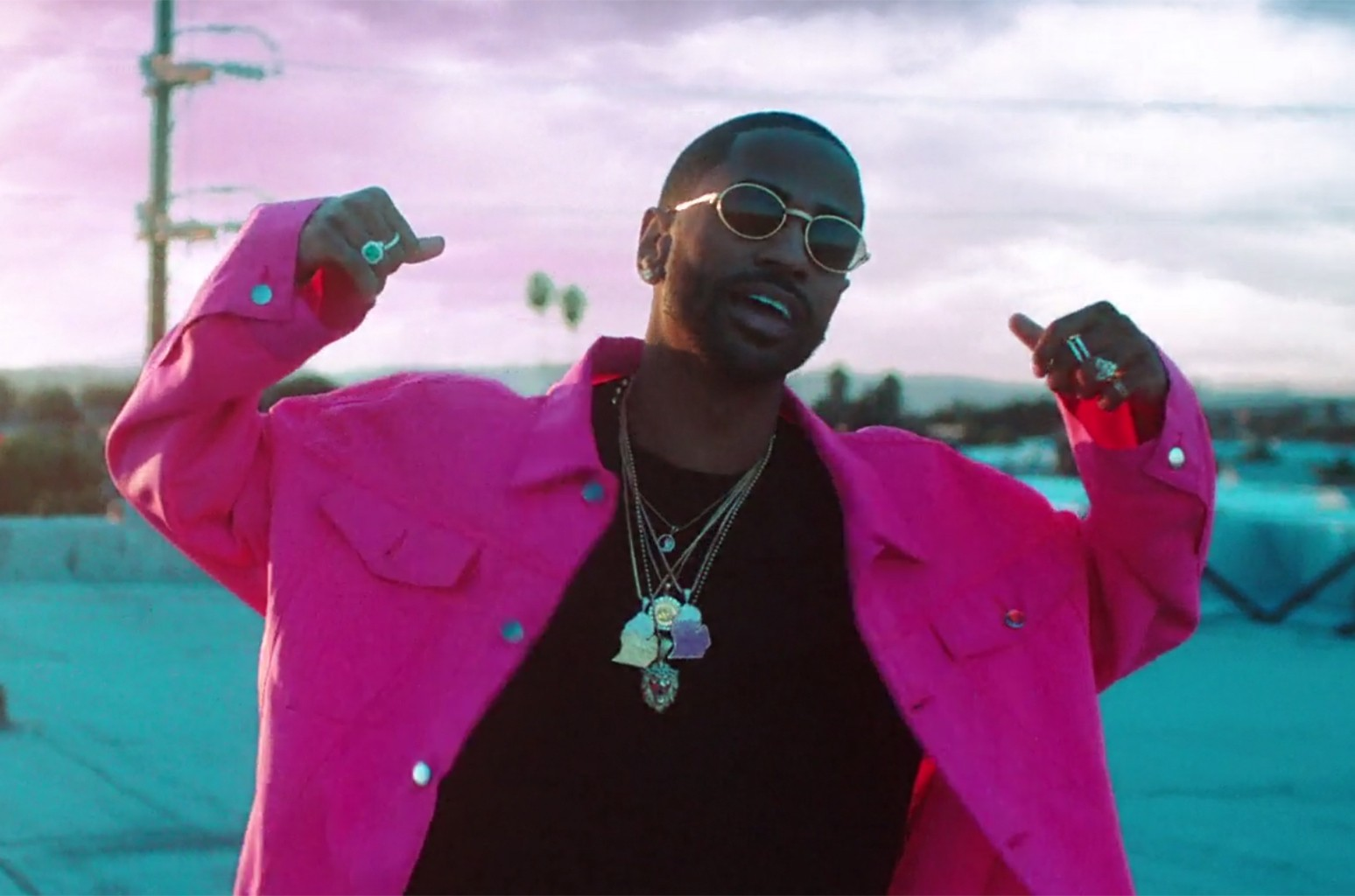 "Big Sean in the video for ""Bounce Back."""